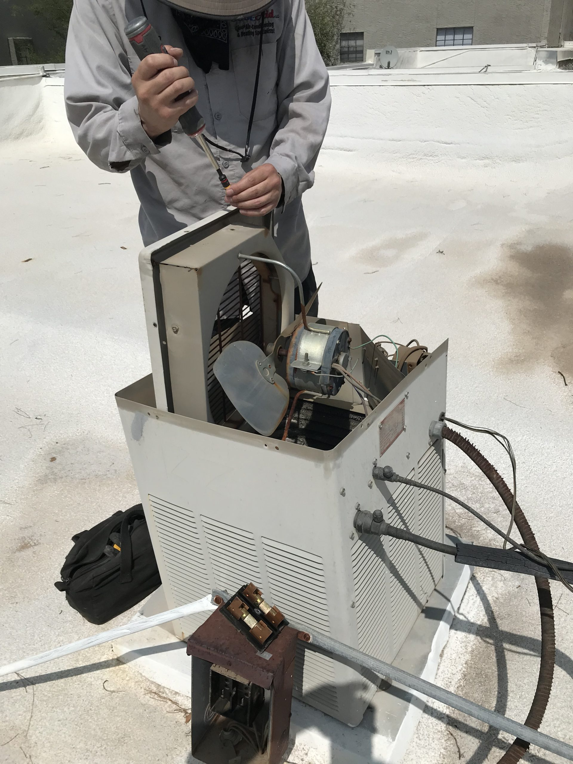 Older AC unit repair